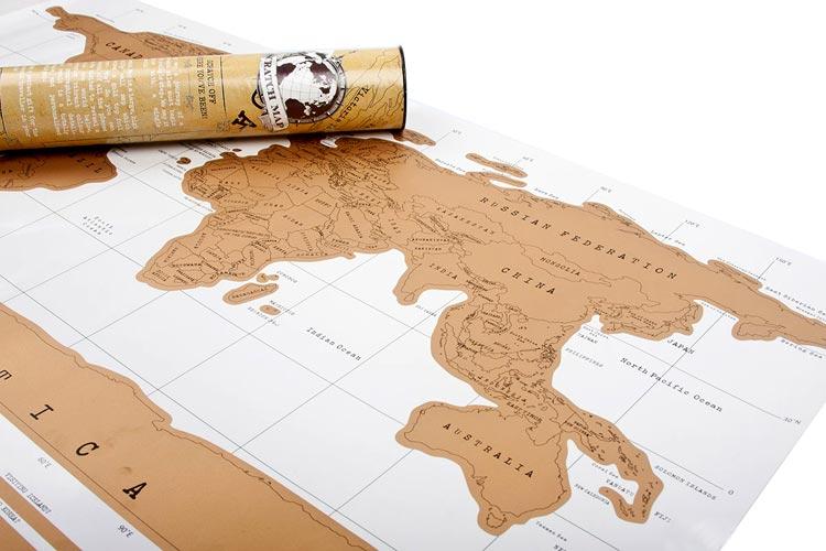 скрэтч карта путешественника