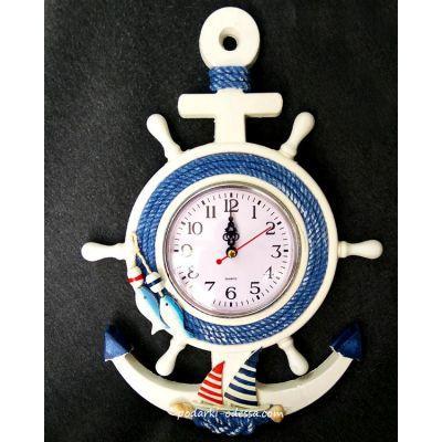 Часы настенные «Штурвал - Якорь»