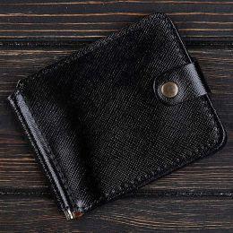 Зажим для денег v.1.0. Business Портофино Черный (кожа)