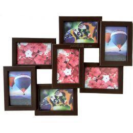 Коллаж на 7 фото из натурального дерева (3 цвета)