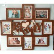 Рамка на 8 фотографий Family (коричневая)