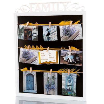 Рамка на 9 фотографий Семья