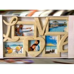 Коллаж на 5 фотографий LOVE
