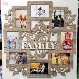 Рамка на 8 фотографий Family (58*61)