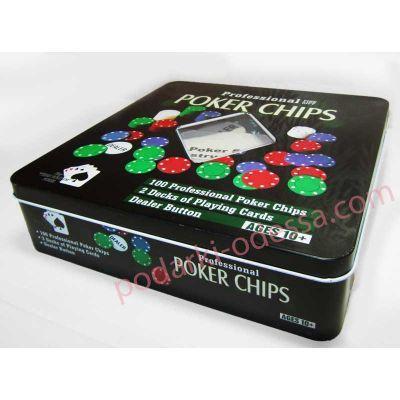 Набір для гри в покер на 100 фішок