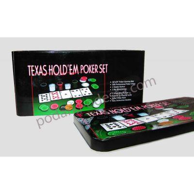 Набор для игры в покер на 200 фишек + сукно для blackjack