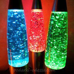 Глиттер лампа с блестками 41 см