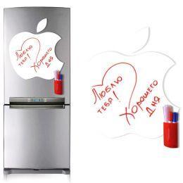Магнитная доска на холодильник (маркерная Apple)