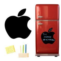 Магнитная доска на холодильник (меловая Apple)