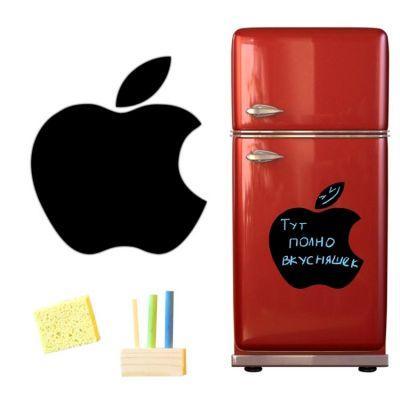 купить Магнитную доску на холодильник (меловая Apple)