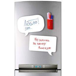 Магнитная доска на холодильник 2 в 1 (маркерная чат)