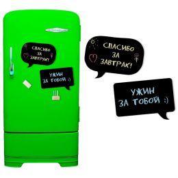 Магнитная доска на холодильник 2 в 1 (меловая чат)