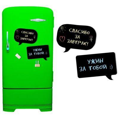 купить Магнитную доску на холодильник (меловая чат)