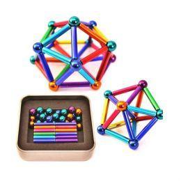 Магнитный конструктор палочки и шарики (цветной)