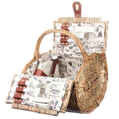 Корзина для пикника плетеная (4 персоны) 015PPN