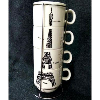 Подарочный набор чашек «Эйфелева башня»