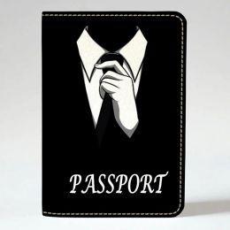 Обложка на паспорт v.1.0. 05 Джентльмен (эко-кожа)