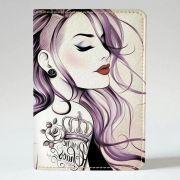 Обкладинка на паспорт v.1.0. 202 Дівчина з татуюванням (еко-шкіра)
