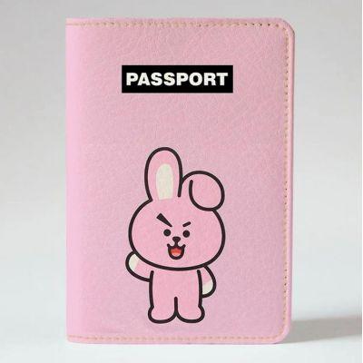 Обложка на паспорт v.1.0. 1002 BT21 COOKY (эко-кожа)