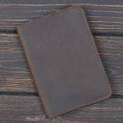Обкладинка на паспорт v.1.0. Bussiness Олива (шкіра)