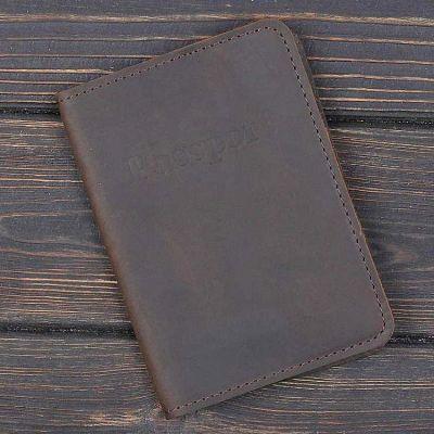 Обложка на паспорт v.1.0. Bussiness Олива (кожа)