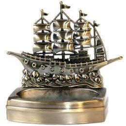 Пепельница - зажигалка Корабль