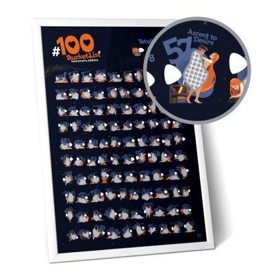 """купить мотивационный Скретч постер """"#100 дел"""" Kamasutra edition"""