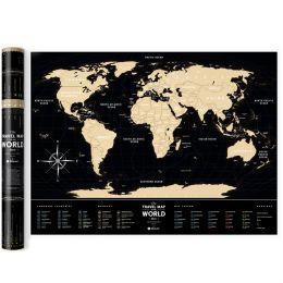 Скретч карта світу Travel Map Black World (пластик)
