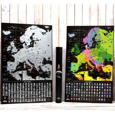 Скретч карта Европы My Map Europe Edition