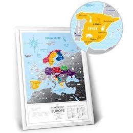 Скретч карта Европы Travel Map ™ «Silver Europe»