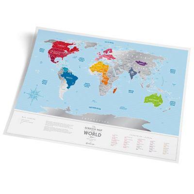 """Скретч карта мира Travel Map ™ """"Silver World"""" купить с доставкой"""