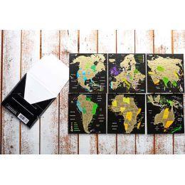 Скретч открытки «Map of the World»