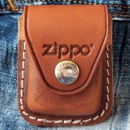Чохол для запальнички Zippo LPCB коричневий (кліпса)