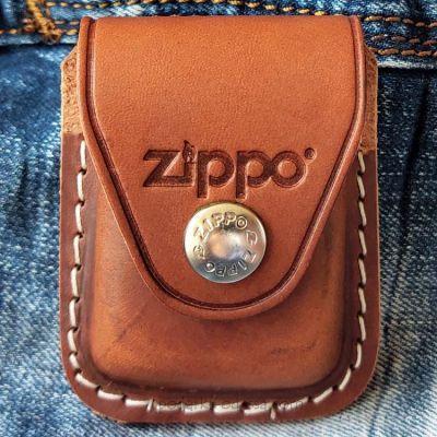 Чехол для зажигалки Zippo LPCB коричневый (клипса)