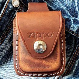 Чехол для зажигалки Zippo LPLB коричневый (петля)