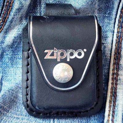 Чехол для зажигалки Zippo LPLBK черный (петля)