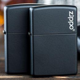 Зажигалка Zippo 218 ZL Black Matte Logo