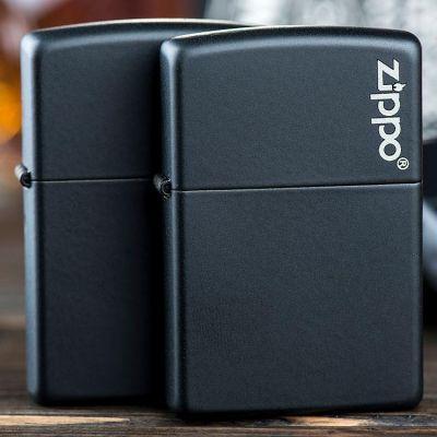 Зажигалка Zippo 218 ZL Black Matte with Zippo Logo