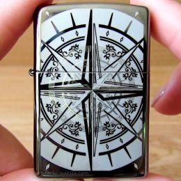 Зажигалка Zippo 29232 Compass Black Ice