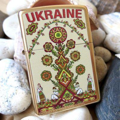 купить Зажигалку Zippo 207 G UT Ukraine Tree
