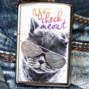 Зажигалка Zippo 29619 Cat With Glasses Design