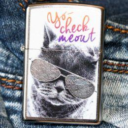 Зажигалка Zippo 29619 Cat With Glasses Design