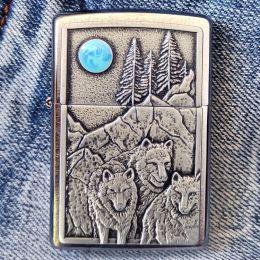 Зажигалка Zippo 49295 Wolf Pack Moon Emblem
