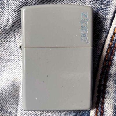 Зажигалка Zippo 49452ZL Flat Grey Zippo Logo