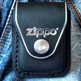 Чехол для зажигалки Zippo LPCBK черный (клипса)