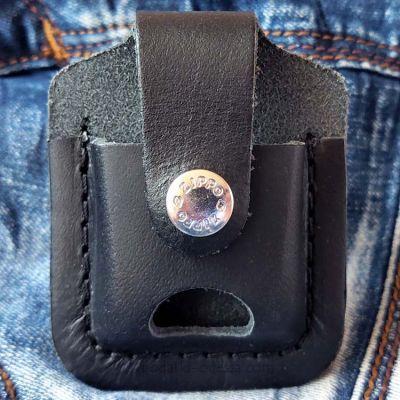Чохол для запальнички Zippo LPTBK чорний (петля з прорізом)