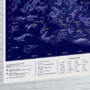 Світиться карта зоряного неба