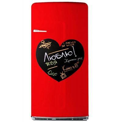 Магнитная доска на холодильник (меловая сердце)