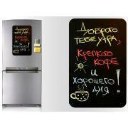 Магнитная доска на холодильник (меловая прямоугольная)