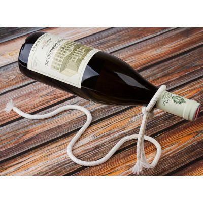 Подставка держатель под бутылку - веревка